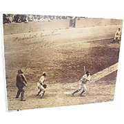 Babe Ruth's 60th Home Run 1927 signed tinted framed Photo Copy - Print No. 5 ...