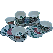 Italian Hand-painted 12 pc. Luncheon Plates and Cups - Made in Italy