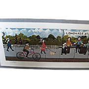 """The Lemonade Stand"" professionally framed print by Gallery One - artist Ann Rugh Ba"