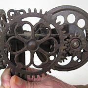 Antique 1880 Cast Iron Apple Peeler Sinclair Scott Co. of Baltimore - Made in USA