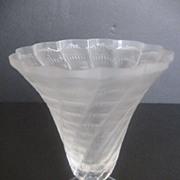 """SALE Lalique """"Lucie"""" Trumpet Vase"""