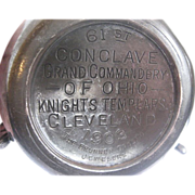SOLD Rare 1903 61st Conclave Masonic Knights Templars Three Handled Loving Cup - Silverplate -