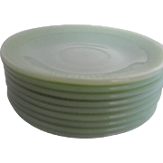 17 Fire King Jadeite Jane Ray Pattern Saucers