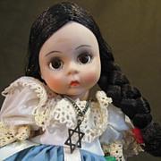 "Madame Alexander-Miniature Showcase- Israel Doll 8"" 1974"