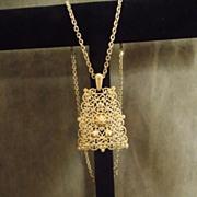 Large Vintage Trifari Pendant Necklace
