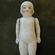 German All Bisque Child With Painted Eyes 19c