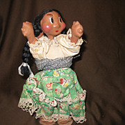 Vintage Handpainted MEXICAN Young Mother and Child Doll
