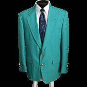 SOLD Vintage Men's PALM BEACH Sport Coat, 1980s Green Golf Classic Trophy Blazer Size 42R 42 R