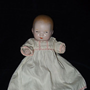 Antique Large All Bisque Baby with Swivel Neck