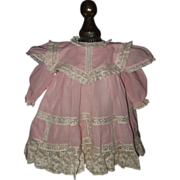 SOLD Pink Dress with Lace Trim