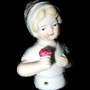 Bisque German Half Doll