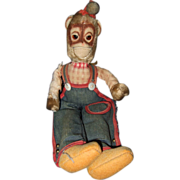 SOLD Vintage Toy Cloth Monkey