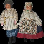 Pair of Vintage Kimport Russian Peasant Dolls