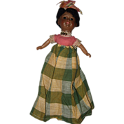 All Original Black Bisque Ethnic Doll