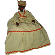 Primitive Black Girl -Hand Made- Toaster Cover From the 1960's