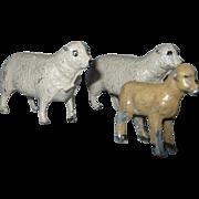 Vintage Miniature Dollhouse Metal Sheep