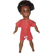 SFBJ Unis French Black Bisque Head Doll