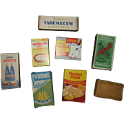 German Miniature Grocery Food Boxes