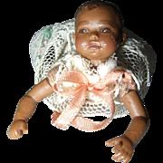 Miniature Dollhouse Black Baby