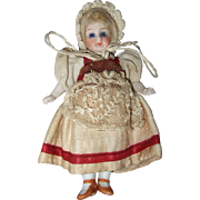 All Bisque, Swivel Neck French Dollhouse Doll