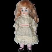 Kestner Miniature ,All Bisque, Dollhouse, Sleep Eye Girl