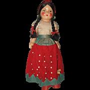 Composition And Cloth  Mexican Souvenir Doll