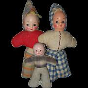 Three Masked Face Dolls