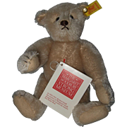 REDUCED Small Mohair Steiff Bear made for The Margaret Woodbury Strong Museum