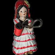 Vintage Porcelain Doll Sewing Caddy