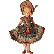 German, Miniature, Dollhouse, Composition Doll