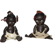 Pair of Japanese Black Babies