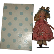 "SOLD Nancy Ann Storybook, Painted Bisque,#127 ""Merry Little Maid"""