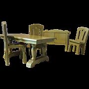 Vintage, German, Wood Kitchen/ Dining Room Set