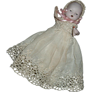 Miniature, Swivel Neck, Hertwig, Baby Doll with Molded Baby Bottle