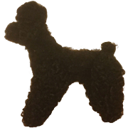 REDUCED Small Steiff Poodle