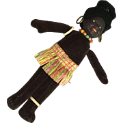 Black Velvet Souvenir Cloth Doll