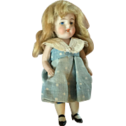 Unique All Bisque Miniature Doll with Teeth