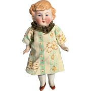 REDUCED Miniature, German, All Bisque Doll