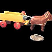 Putz Horse and Wagon
