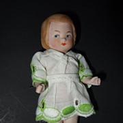 German Antique Miniature Dollhouse Doll