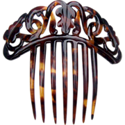 Victorian Faux Tortoiseshell Hair Comb Boxed Coronet Style Hair Accessory