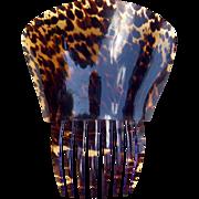 SOLD Antique Hair Comb Tortoiseshell Spanish Mantilla Style Hair Accessory