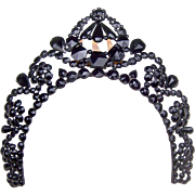French Jet Tiara Comb Victorian Mourning Hair Accessory Hair Accessory