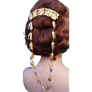 Cascade Comb with Faux Pearls and Pendants Hair Accessory