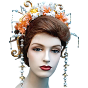 Art Deco Oriental Style Evening or Theatrical Headdress Hair Accessory