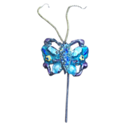 Chinese Hair Comb Enamel Figural Butterfly Hair Accessory