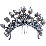Vintage tiara hair comb Indonesian headdress headpiece belly dance hair accessory crown hair o