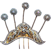 Vintage tiara hair comb Indonesian headdress headpiece belly dance hair accessory hair pin cro