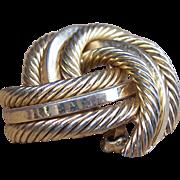 Vintage Henkel Grosse brooch, Signed brooch, German Modernist, Gold Tone Metal, Designer Jewel