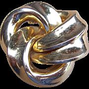 SOLD Vintage Henkel Grosse for Dior brooch, Signed 1970s German Modernist, Machine Age, Gold T